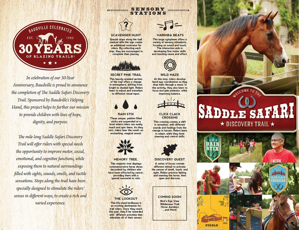 Saddle Safari Discovery Trail - Sensory Trail Brochure